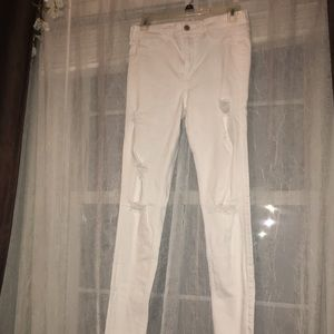 Hollister white jeans.